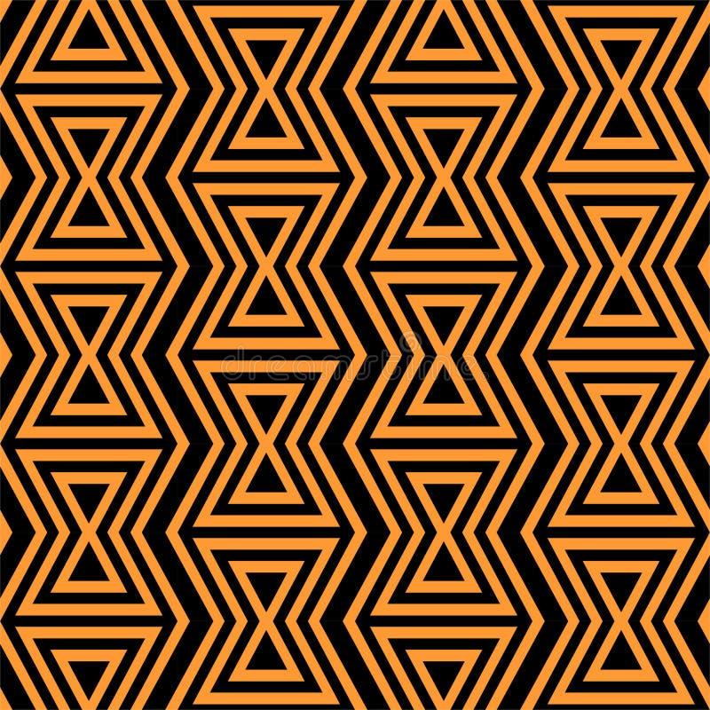 geometrisches nahtloses Muster Einfacher regelmäßiger Hintergrund Modische Hippie-Art mit indianischen Motiven aztekisch lizenzfreie abbildung