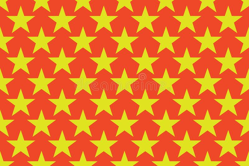 geometrisches nahtloses Muster Einfarbige nach dem Zufall abstrakte Fotobeschaffenheit mit Sternen Ideales Packpapier einfach stock abbildung