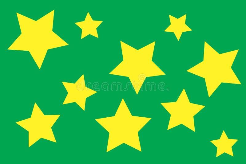 geometrisches nahtloses Muster Einfarbige nach dem Zufall abstrakte Fotobeschaffenheit mit Sternen Ideales Packpapier einfach vektor abbildung