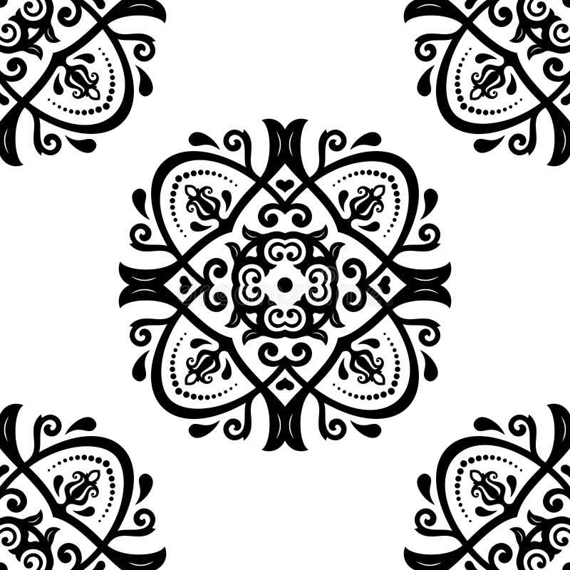 geometrisches nahtloses Muster entziehen Sie Hintergrund vektor abbildung