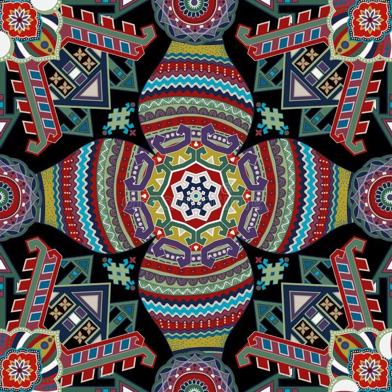 Geometrisches nahtloses muster ethnische tapete vektor - Tapete asiatisch ...