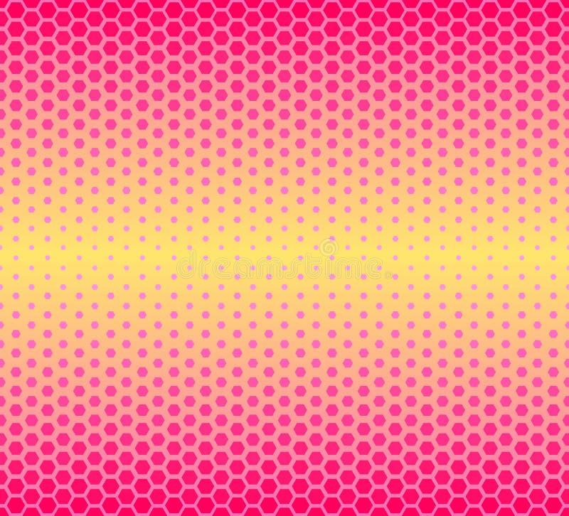 geometrisches nahtloses Muster Facette, Hexagonbeschaffenheit Muster f?r Packpapier stock abbildung