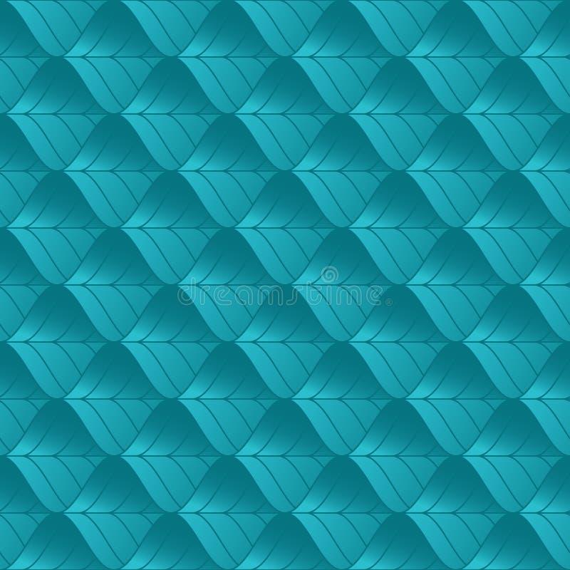 geometrisches nahtloses Muster Kaltes Farbsteigungs-Zusammenfassungsblatt Wiederholen des modernen geometrischen Gitterhintergrun stock abbildung