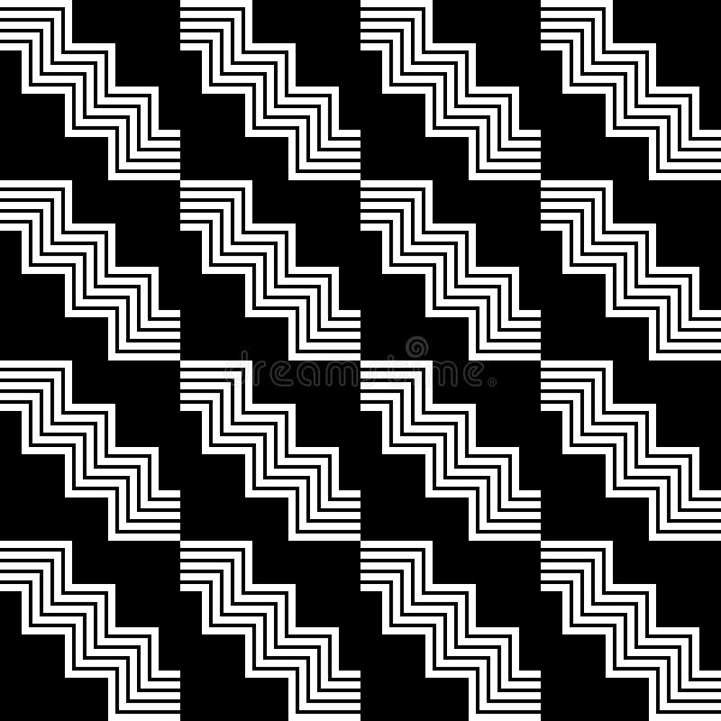 Geometrisches nahtloses Schwarzweiss-Muster vektor abbildung