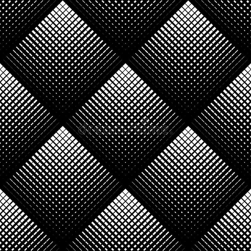 Geometrisches nahtloses Schwarzweiss-Muster, abstrakter Hintergrund stock abbildung