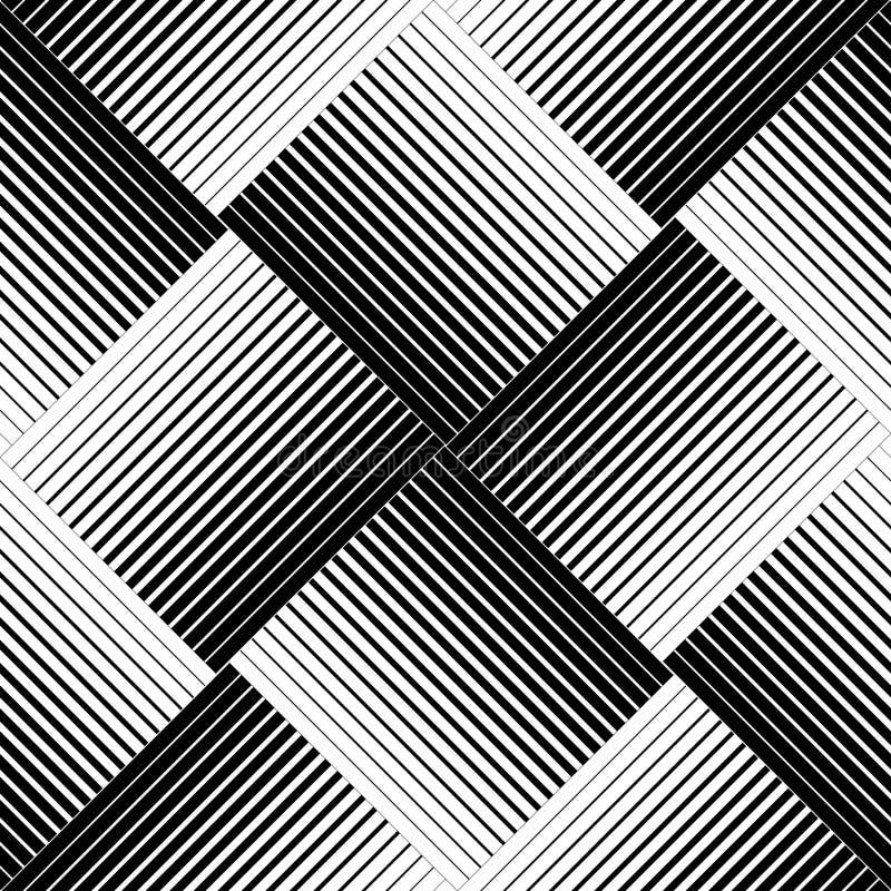 Geometrisches nahtloses Schwarzweiss-Muster mit Linie, abstraktes b vektor abbildung