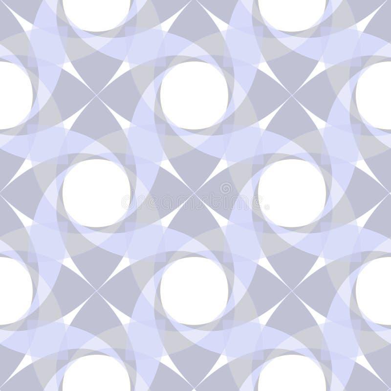 geometrisches nahtloses transparentes Muster lizenzfreie abbildung