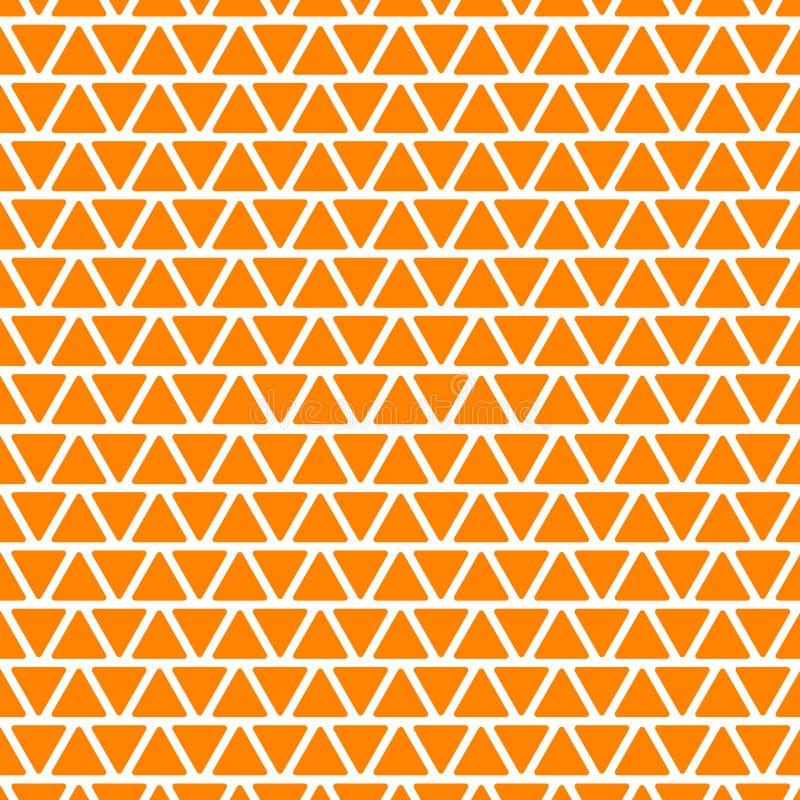 Geometrisches nahtloses Vektormuster Orange und weißer Hintergrund vektor abbildung