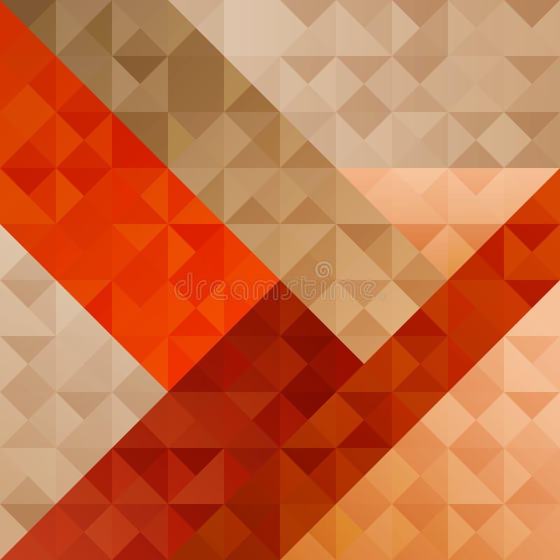 Geometrisches orange abstraktes Muster stock abbildung