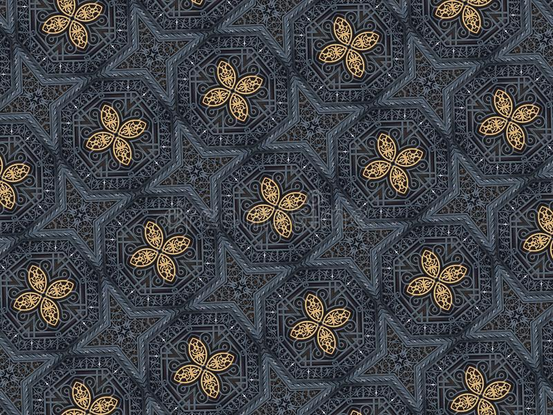 Geometrisches orientalisches Muster maserte Formillustration vektor abbildung