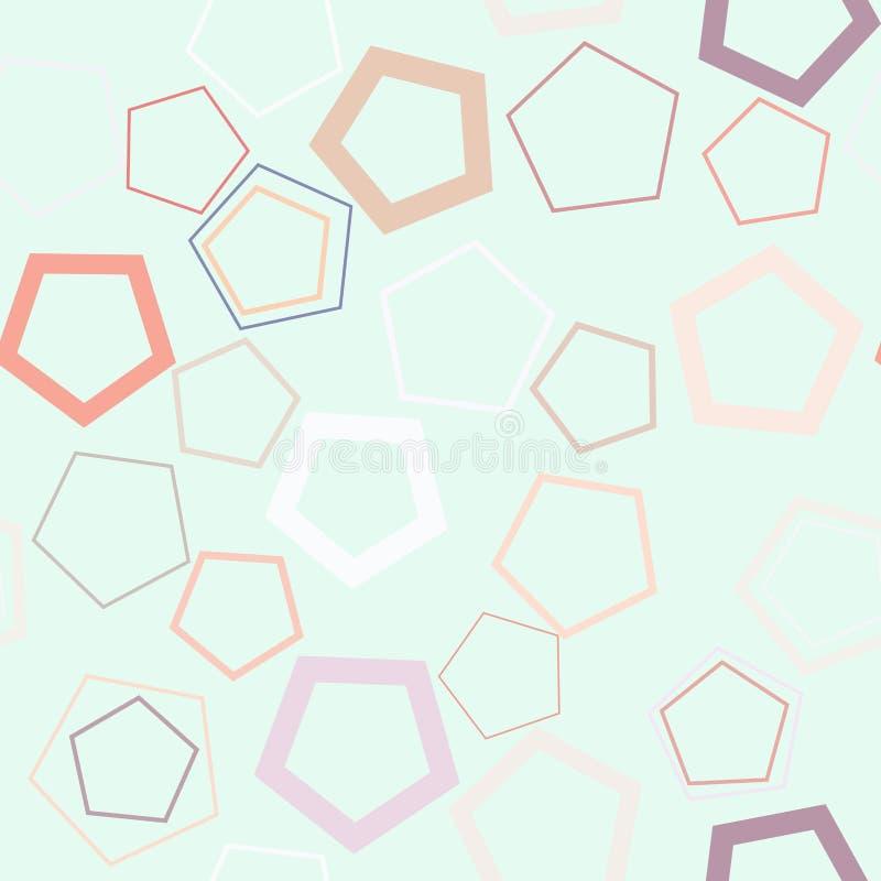 Geometrisches Pentagonmuster der nahtlosen Hintergrundzusammenfassung für Design Kunst, Details, Konzept u. Effekt stock abbildung