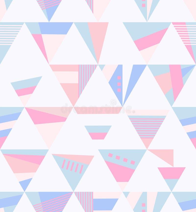 Geometrisches Retro- nahtloses Muster stock abbildung