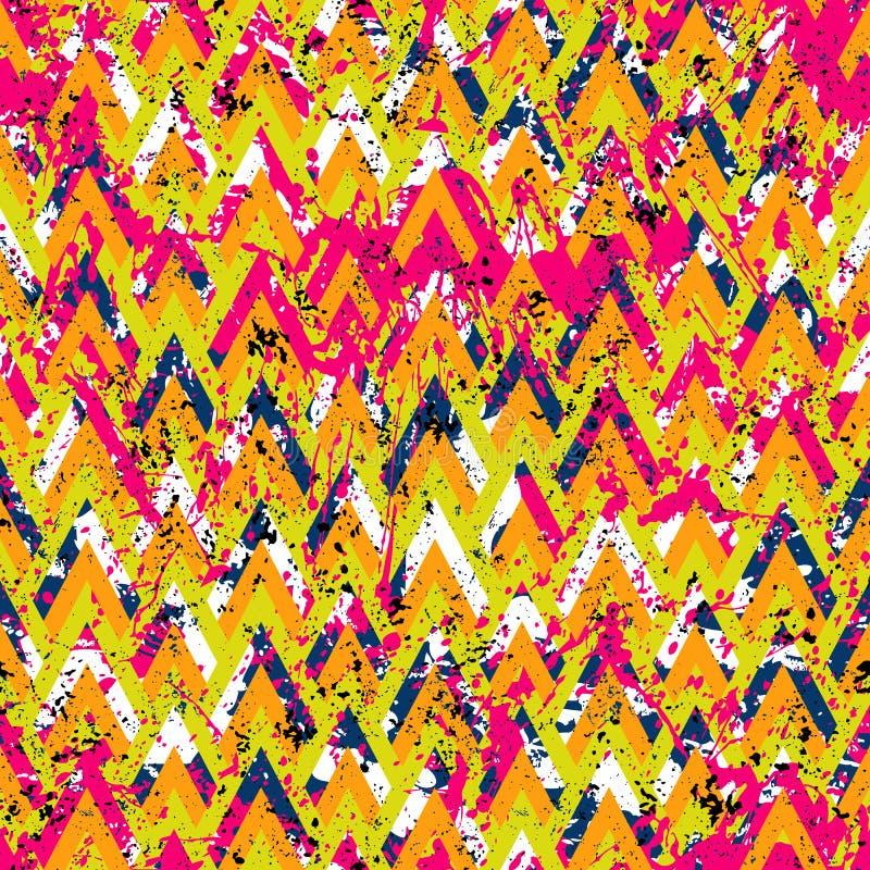 Geometrisches Schmutz-Muster stock abbildung