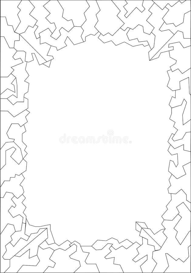 Geometrisches Schwarzweiss-Muster stockfotografie