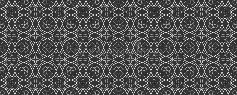 Geometrisches Schwarzweiss-Muster in der japanischen Art für Ihren Entwurf Nahtloses Muster vektor abbildung