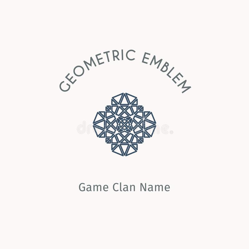 Geometrisches Symbol des Vektors stock abbildung
