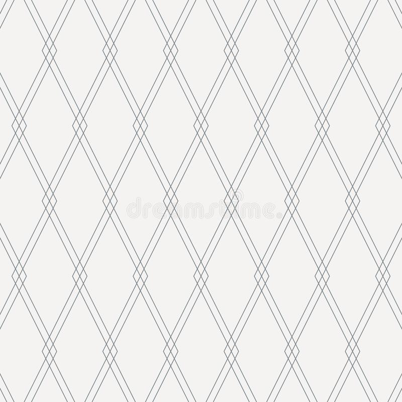 Geometrisches Vektormuster, dünne Linie Deckung jede wiederholend des quadratischen Diamanten Sauberer Entwurf des Vektors für Ge lizenzfreie abbildung