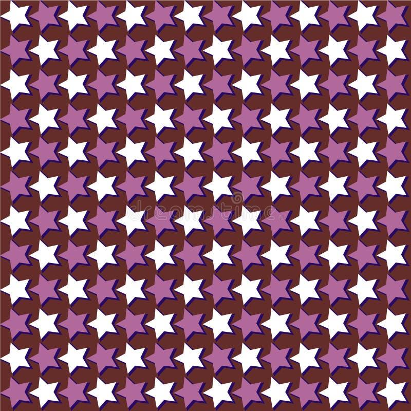 Geometrisches Vektormuster von ununterbrochenen Sternen stock abbildung