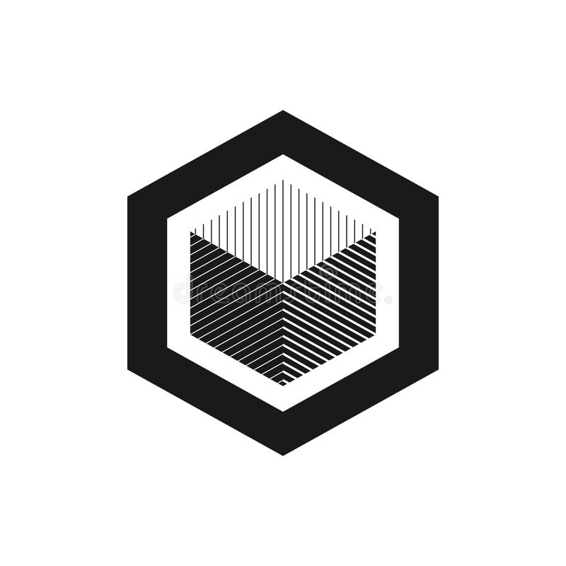 geometrisches Würfelzeichenmuster Modegrafikdesign Auch im corel abgehobenen Betrag Niedrige Illustration für Anzeigen! setzen Si stock abbildung