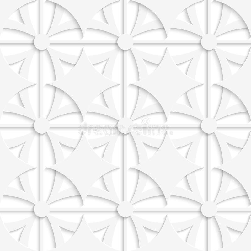 Geometrisches weißes Muster mit der Überlagerung vektor abbildung