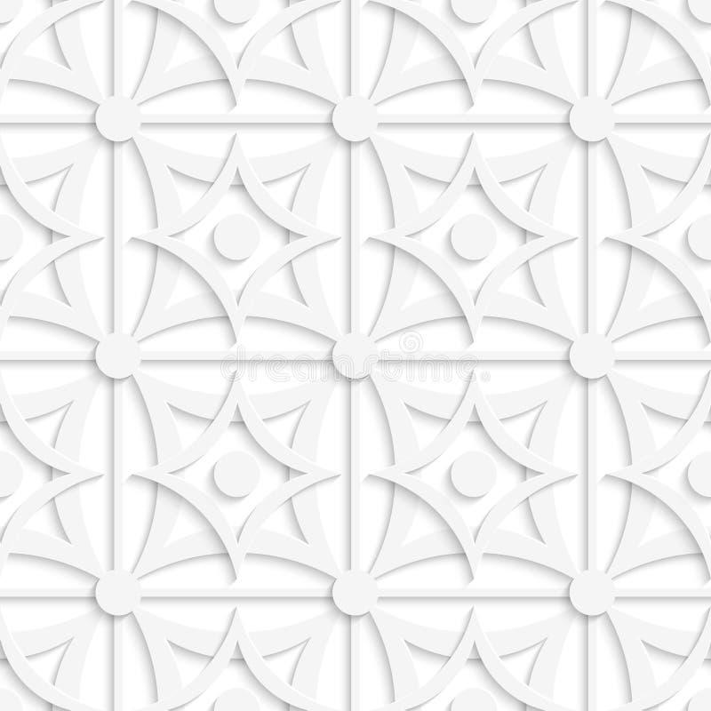 Geometrisches weißes Muster mit der Überlagerung und den Punkten vektor abbildung