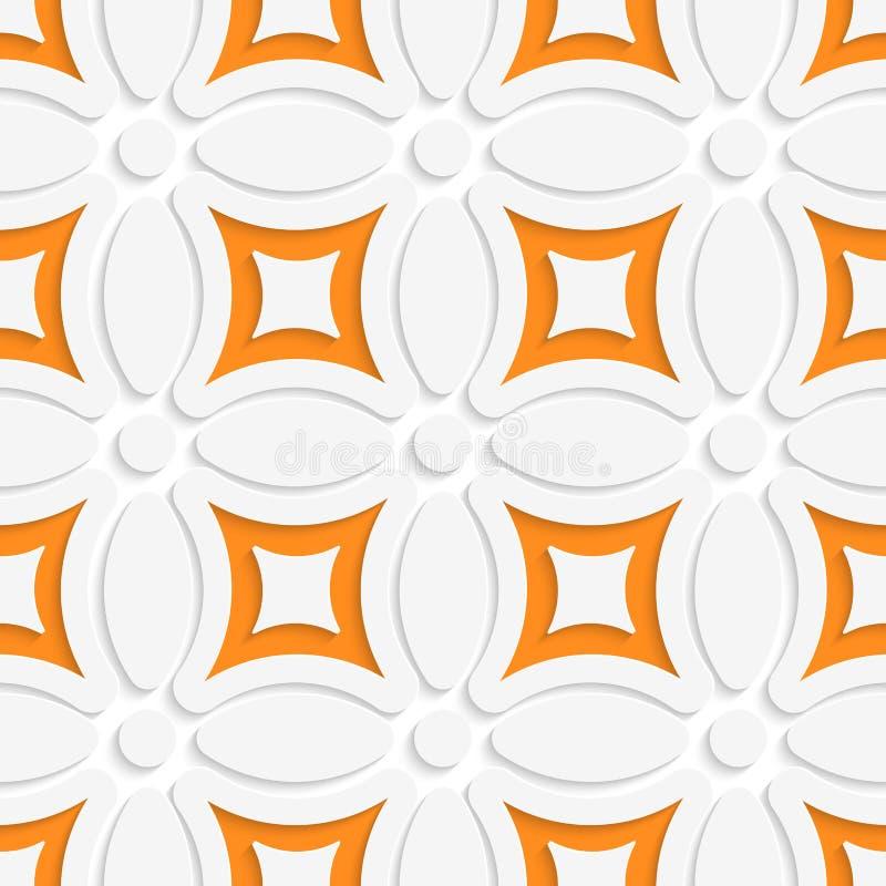 Geometrisches weißes Muster mit Orange vektor abbildung
