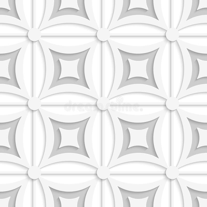 Geometrisches weißes und graues Muster mit Quadraten vektor abbildung