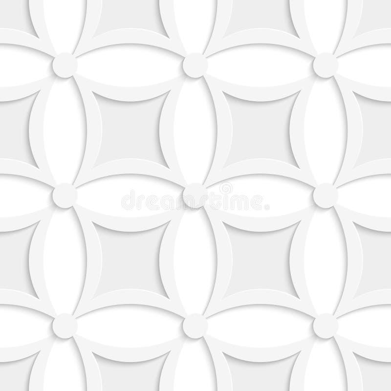Geometrisches weißes und graues Muster mit spitzen Quadraten lizenzfreie abbildung