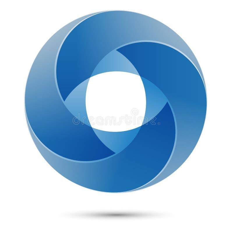 Geometrisches Zeichen des Kreises Abstrakter Entwurf Logoschablone stockfoto