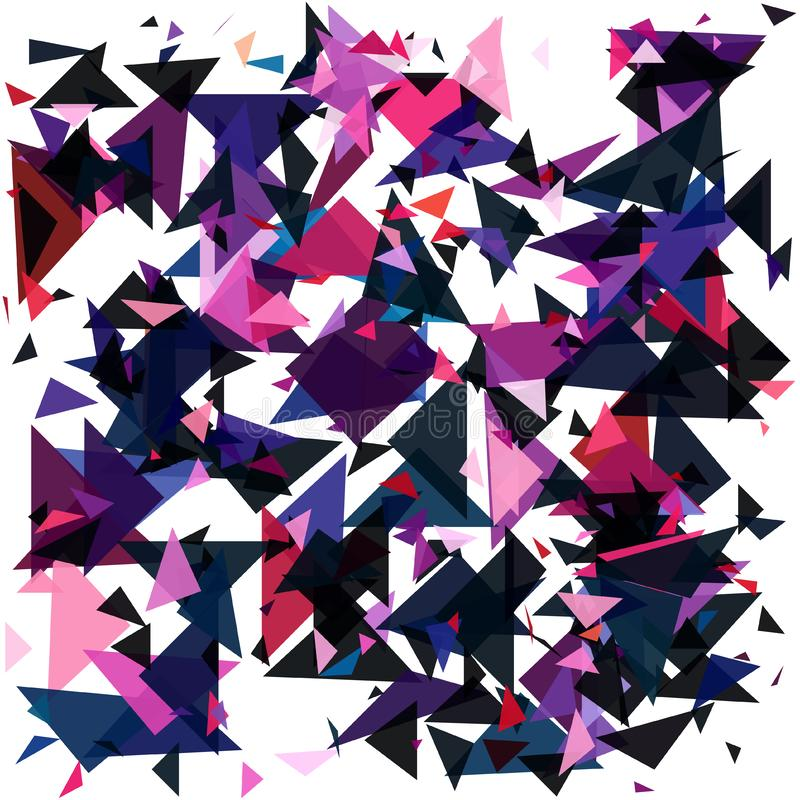 geometrisk abstrakt bakgrund Detonera bakgrund Vektorillustration EPS10 royaltyfri illustrationer