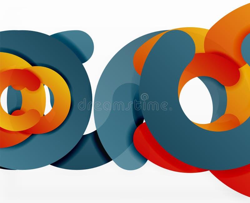 Geometrisk abstrakt bakgrund för cirkel, färgrik affär eller teknologidesign för rengöringsduk royaltyfri illustrationer