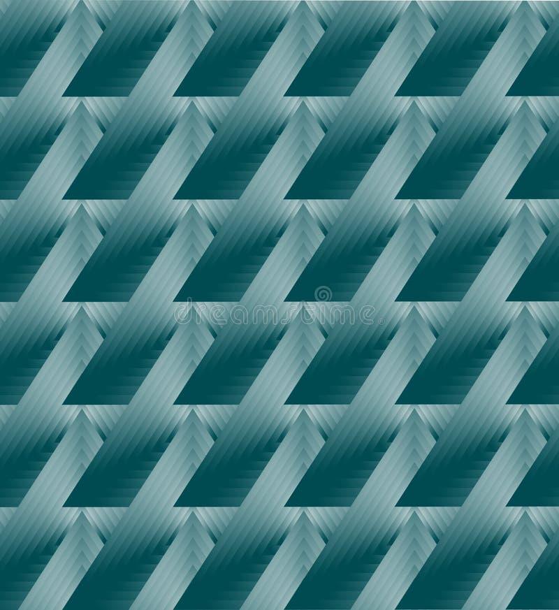 Geometrisk abstrakt bakgrund för turkos vektor illustrationer