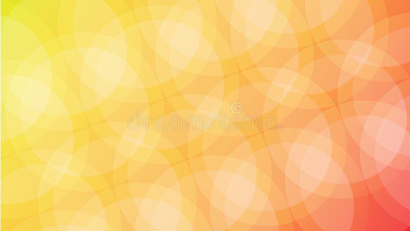 Geometrisk abstrakt bakgrund för vektor med staplade cirklar arkivbild