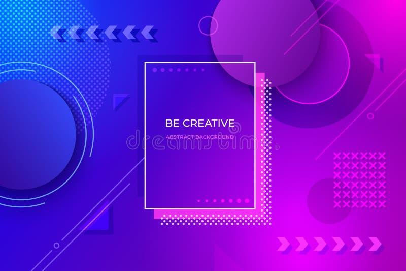geometrisk abstrakt bakgrund Futuristiska lutningdesignformer för affischbanerreklamblad Dynamisk minsta vektor royaltyfri illustrationer