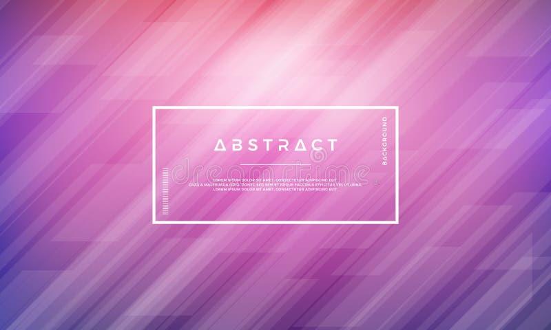 geometrisk abstrakt bakgrund Idérik modern purpurfärgad vektorbakgrund royaltyfri illustrationer