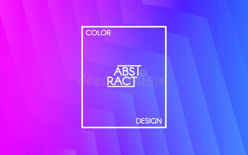 geometrisk abstrakt bakgrund Linjer och former på den ljusa bakgrunden Rosa färg- och blåttdesign Moderiktig vektorillustration royaltyfri illustrationer