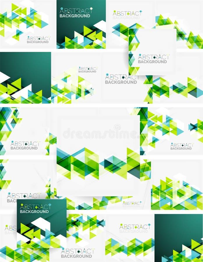 geometrisk abstrakt bakgrund Modern överlappning royaltyfri illustrationer