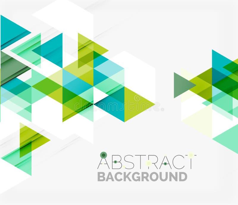 geometrisk abstrakt bakgrund Modern överlappning vektor illustrationer
