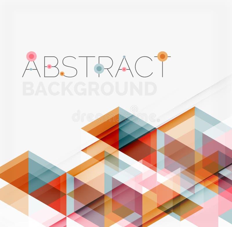 geometrisk abstrakt bakgrund Modern överlappning stock illustrationer