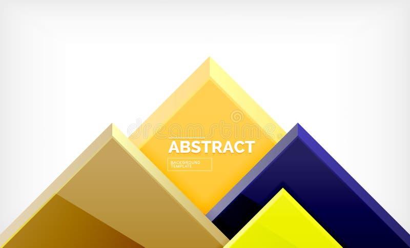 Geometrisk abstrakt bakgrund, modern fyrkantig design stock illustrationer