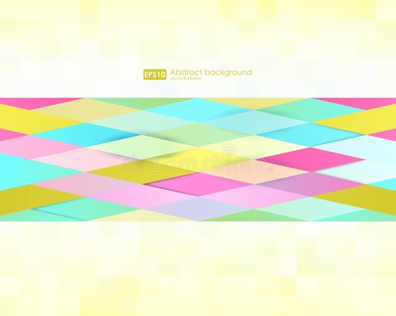 geometrisk abstrakt bakgrund Moderna överlappande trianglar Ovanliga färgformer för ditt meddelande Modelldesign för stock illustrationer