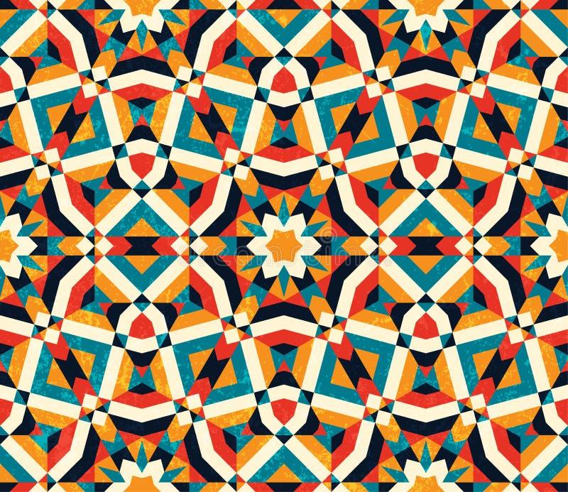 geometrisk abstrakt bakgrund seamless färgrik modell royaltyfri illustrationer