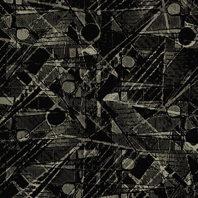 Geometrisk abstrakt collagepatchworkmodell stock illustrationer