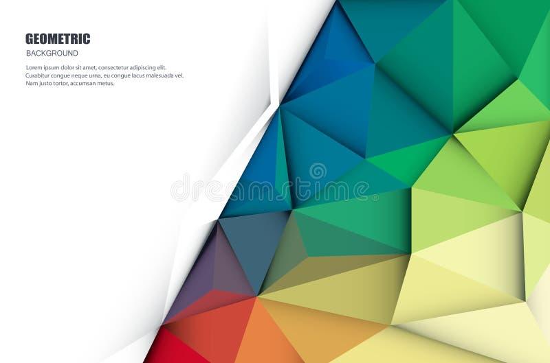 Geometrisk abstrakt 3D, Polygonal, triangelmodell royaltyfri illustrationer