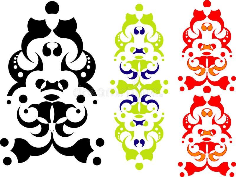 geometrisk abstrakt design 2 stock illustrationer