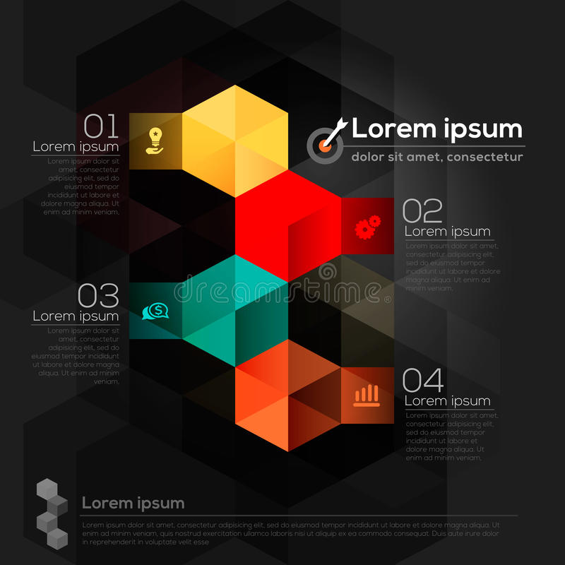 Geometrisk abstrakt designorientering vektor illustrationer