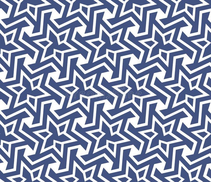 Geometrisk abstrakt sömlös modellbakgrund Österlänning asiat vektor illustrationer