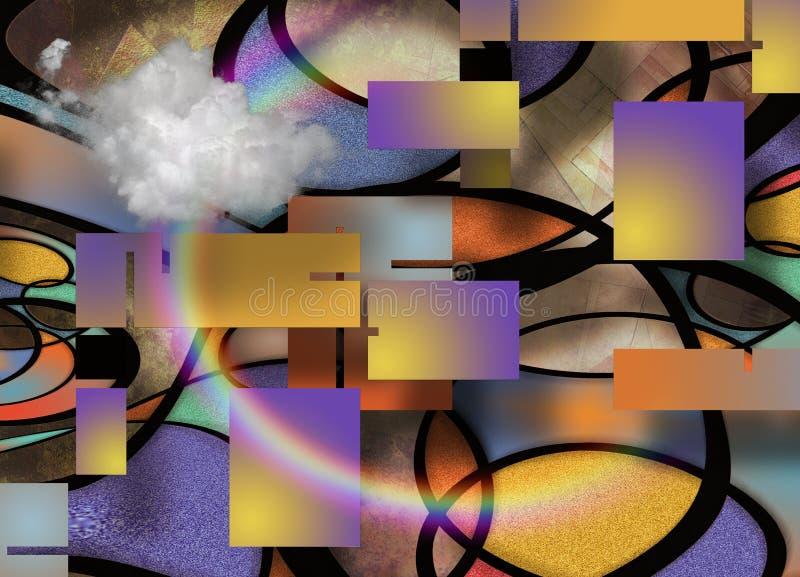 geometrisk abstrakt sammansättning stock illustrationer