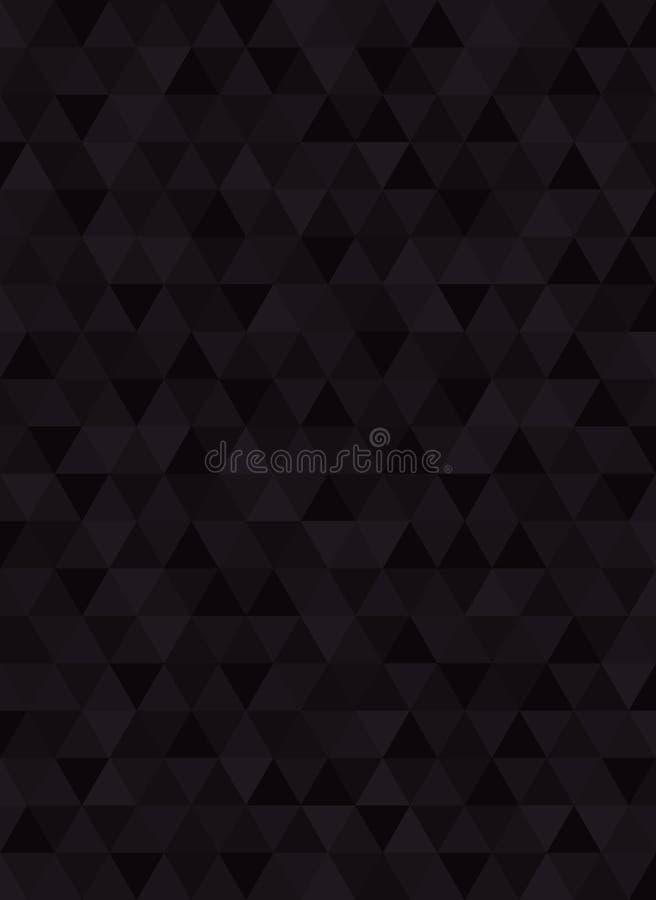 Geometrisk abstrakt svart kolverticalebakgrund stock illustrationer