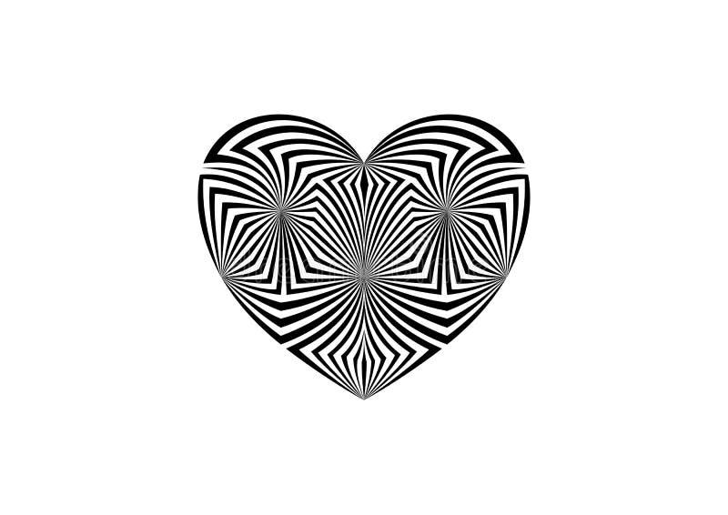 Geometrisk abstrakt svartvit bakgrund vektor illustrationer